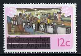 St Kitts 1980 TV Assembly Plant 12c from opt'd def set, SG 31A unmounted mint*