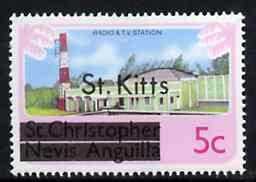 St Kitts 1980 Radio & TV Station 5c from opt
