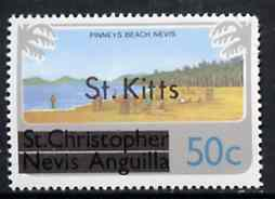 St Kitts 1980 Pinney's Beach 50c from opt'd def set, as SG 37A unmounted mint*