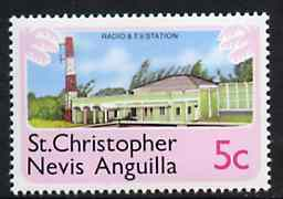 St Kitts-Nevis 1978 Radio & TV Station 5c from Pictorial def set, SG 394 unmounted mint