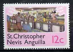St Kitts-Nevis 1978 TV Assembly Plant 12c from Pictorial def set, SG 396 unmounted mint