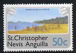 St Kitts-Nevis 1978 Pinney's Beach 50c from Pictorial def set, SG 402 unmounted mint