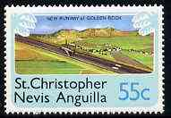 St Kitts-Nevis 1978 New Runway for Golden Rock Airport 55c from Pictorial def set, SG 403 unmounted mint