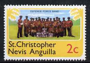St Kitts-Nevis 1978 Defence Force Band 2c from Pictorial def set, SG 393 unmounted mint