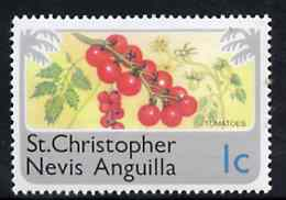 St Kitts-Nevis 1978 Tomatoes 1c from Pictorial def set, SG 391 unmounted mint