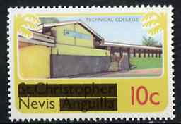Nevis 1980 Technical College 10c from opt