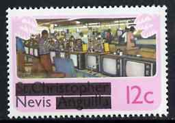 Nevis 1980 TV Assembly Plant 12c from opt'd def set, SG 39 unmounted mint*