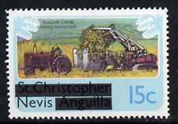 Nevis 1980 Sugar Cane Harvesting 15c from opt'd def set, SG 40 unmounted mint*