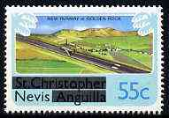 Nevis 1980 New Runway for Golden Rock Airport 55c from opt'd def set, SG 46 unmounted mint*