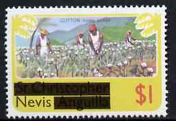 Nevis 1980 Cotton Picking $1 from opt