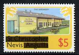 Nevis 1980 Brewery $5 from opt'd def set unmounted mint, SG 48*