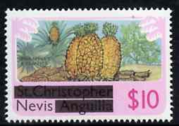 Nevis 1980 Pineaples & Peanuts $10 from opt