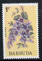 Barbuda 1974 Flowers (Blue Petrea) 1c from pictorial def set, SG 182 unmounted mint*