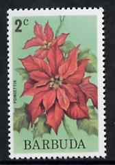 Barbuda 1974 Flowers (Poinsettia) 2c from pictorial def set, SG 183 unmounted mint*