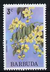 Barbuda 1974 Flowers (Cassia Tree) 3c from pictorial def set, SG 184 unmounted mint*