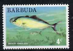 Barbuda 1974 Great Amberjack Fish 4c from pictorial def set unmounted mint, SG 185*