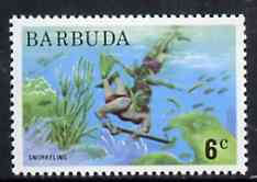 Barbuda 1974 Snorkeling 6c from pictorial def set, SG 187 unmounted mint*