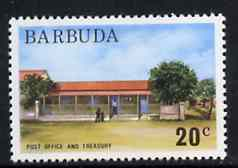 Barbuda 1974 Post Office & Treasury 20c from pictorial def set, SG 190 unmounted mint*