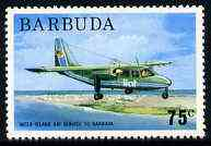 Barbuda 1974 Britten Norman Islander Aircraft 75c from pictorial def set unmounted mint, SG 194*