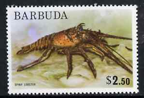 Barbuda 1974 Spiny Lobster $2.50 from pictorial def set, SG 196 unmounted mint*
