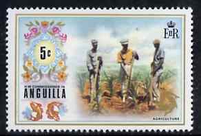 Anguilla 1972-75 Agriculture 5c from def set, SG 134 unmounted mint, stamps on agriculture