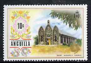 Anguilla 1972-75 St Gerard's Church 10c from def set, SG 136 unmounted mint