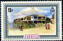 Anguilla 1972-75 Cottage Hospital Extension 15c from def set, SG 137 unmounted mint