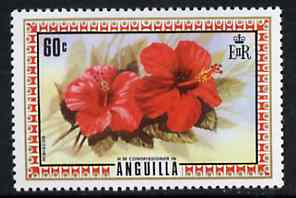 Anguilla 1972-75 Hibiscus 60c from def set, SG 141 unmounted mint