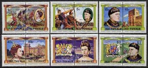 Tuvalu - Nui 1984 Monarchs (Leaders of the World) Queen Anne & Henry V, set of 12 opt'd SPECIMEN unmounted mint