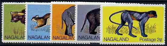 Nagaland 1969 Animals set of 5 from Wildlife definitive set unmounted mint*