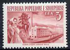Albania 1953 Sugar Factory 3L red unmounted mint, Mi 528