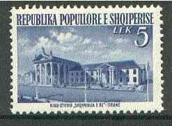 Albania 1953 Film Studio 5L blue unmounted mint, Mi 529