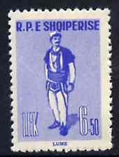 Albania 1961 Provincial Costumes 6L50 blue unmounted mint, Mi 625
