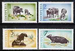 Albania 1965 Water Buffaloes set of 4 values only (1, 2, 3 & 7L) unmounted mint, Mi 921-24