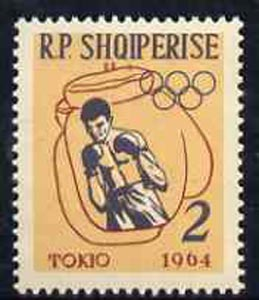 Albania 1963 Olympic Games 2L boxing unmounted mint, Mi 747
