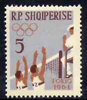 Albania 1963 Olympic Games 5L Volleyball unmounted mint, Mi 749
