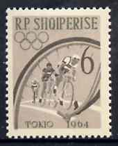 Albania 1963 Olympic Games 6L Cycling unmounted mint, Mi 750