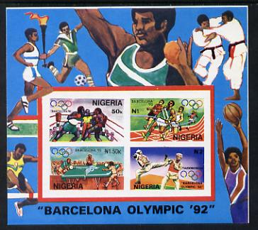 Nigeria 1992 Barcelona Olympic Games (1st issue) m/s imperf unmounted mint, SG MS 623var