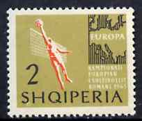 Albania 1963 European Sports Events 2L Volleyball unmounted mint, Mi 763