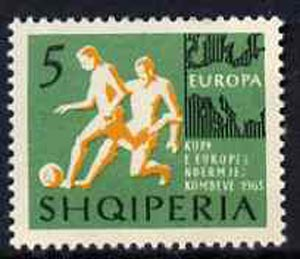 Albania 1963 European Sports Events 5L Football unmounted mint, Mi 765