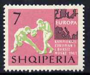 Albania 1963 European Sports Events 7L Boxing unmounted mint, Mi 766