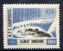Albania 1963 Innsbruck Winter Olympic Games 0L50 Bobsleighing unmounted mint, Mi 793