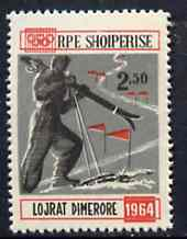 Albania 1963 Innsbruck Winter Olympic Games 2L50 Skiing unmounted mint, Mi 794