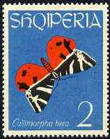 Albania 1963 Euplagia quadripunctaria 2L from Butterflies & Moths set unmounted mint, Mi 774
