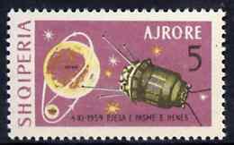 Albania 1963 Lunik III 5L unmounted mint, Mi 781