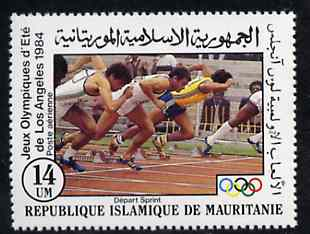 Mauritania 1984 Start of Race 14um from Olympic Games set unmounted mint, SG 796*