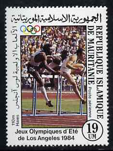Mauritania 1984 Hurdling 19um from Olympic Games set unmounted mint, SG 798*