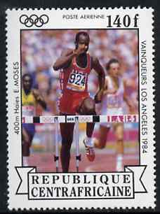 Central African Republic 1985 Hurdles 140f from Olympic Gold Medalists set unmounted mint SG 1069