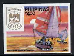 Philippines 1988 Yachting 4p imperf from Seoul Olympic Games set unmounted mint, as SG 2093B*