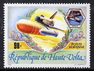 Upper Volta 1983 Space Shuttle Challenger 90f from World Events set, SG 665 unmounted mint*